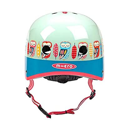 Micro Childrens Helmet: Owl Pattern Medium 53-57Cm Girls Childrens Scooting Bike Cycling by Micro