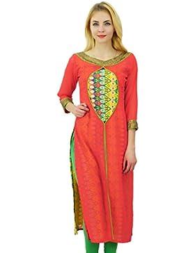 Phagun Kurti de mujeres de origen Georgette Kurta impresión sólida diseñador del vestido ocasional