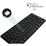 GZD Tablet PC Bluetooth Teclado Plano 3 Sistema MóVil General InaláMbrico Teclado De Computadora , black