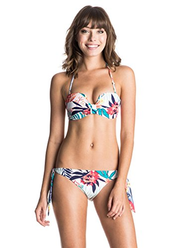 roxy-bikini-da-donna-blu-blue-canary-islands-flora-combo-white-l