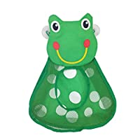 LAMEIDA Bath Toy Storage Bag With Suction Cups Lovely Frog Bath Toys Organiser Basket Net Keep Kids Bathtub Toys Dry