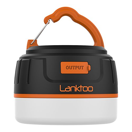 Lanktoo 2-In-1 Rechargeable Camping Lantern & Power Bank Charger 6400mAh - IP65 Ultral Bright Emergency Lamp Outdoor Tent Light for Hiking Fishing Camp