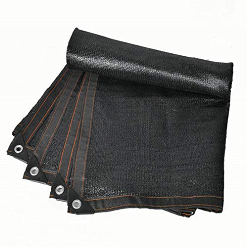 CUUYQ Sunblock Schatten Segel, Sunblock Shade Net Cloth mit ÖSen Schattierungsnetz Sonnensegel Rechteck Sonnenschutz Segel Tuch füR Terrassen,Black_10x10m/30x30ft
