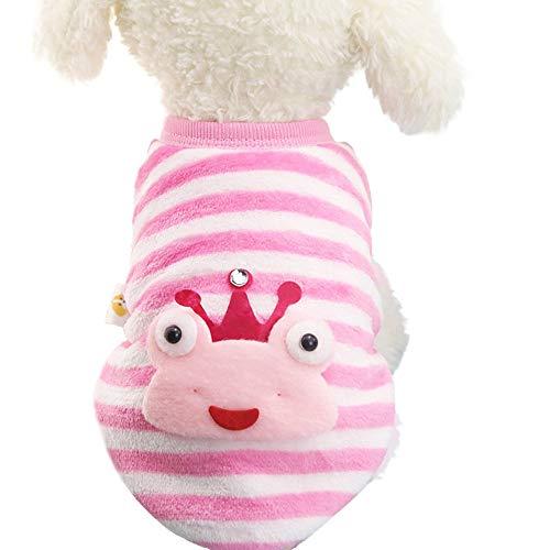 YCGG Hund Pullover Welpen-T-Shirt Warm Pullover Niedlicher Hundewelpen-Kleidungs-Strickjacke-kleines Welpen-Hemd-weiche Haustier-Mäntel(M,Rosa)