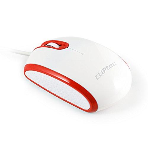 CLiPtec® Viva Pro verkabelt 3Taste 1000DPI Optische Maus-schwarz rot Speed RSZ966 -