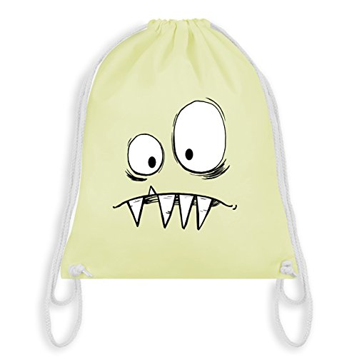 Shirtracer Karneval & Fasching - Monster Gesicht Kostüm 2 - Unisize - Pastell Gelb - WM110 - Turnbeutel & Gym Bag