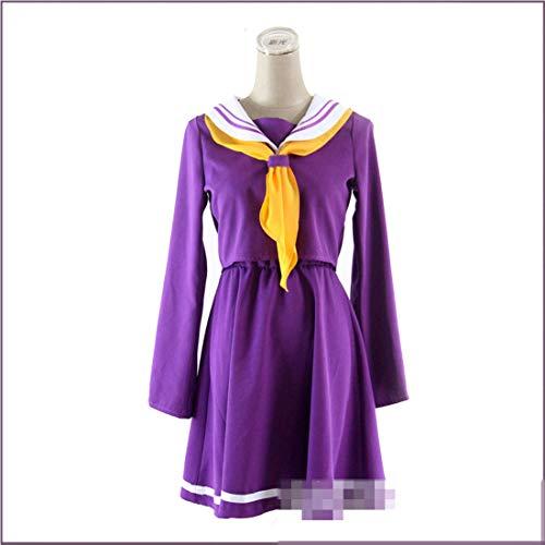 RL Kein Spiel Kein Leben Cosplay Shiro Kostüm Halloween Frauen Kleidung Karneval Kleid Matrosenanzug Japanische (Shiro Cosplay Kostüm)