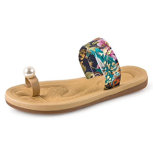 saingace-femmes-mode-dt-flat-flops-chaussures-dsandales-mocassins-bohme-bleu-39