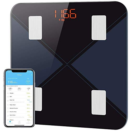 Mpow Body Fat Scales, Bluetooth Body Composition Digital Bathroom Scale, Smart Digital BMI Wireless Weight Scale, Large Backlit Display, Body Composition Analyzer