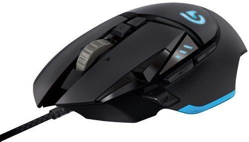 Logitech G502–Mouse, USB, 12000DPI, USB 12000dpi Black 121g, Black