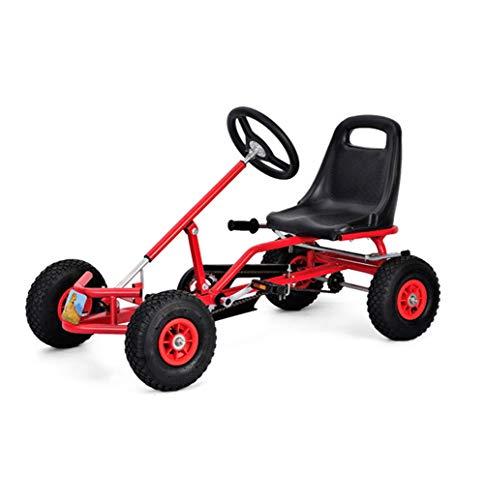 Lvbeis Kids Go-Kart-Fahren Mit Handbremse Tretauto Indoor Outdoor Tretfahrzeug Verstellbarer Kettcar Sitz FüR 5 Bis 14 Jahre