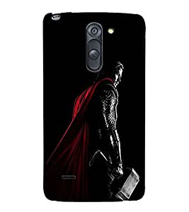 Takkloo warrior super hero,man with hammer, man with long hair, Black Background, man with super power) Printed Designer Back Case Cover for LG G3 Stylus :: LG G3 Stylus D690N :: LG G3 Stylus D690
