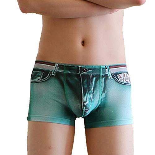 Camouflage Woven Boxer (Herren Briefs Heißer Nylon-Stretch-Denim 3D-Druck Männer Gezeiten männlichen Boxershorts)