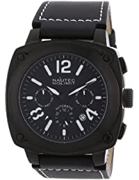 Nautec No Limit Herren-Armbanduhr XL Grizzly Analog Automatik Leder GZ AT/LTIPIPBK