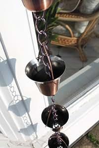 Chaînes de pluie - Chaîne de pluie à clochettes métalliques, plaquée cuivre