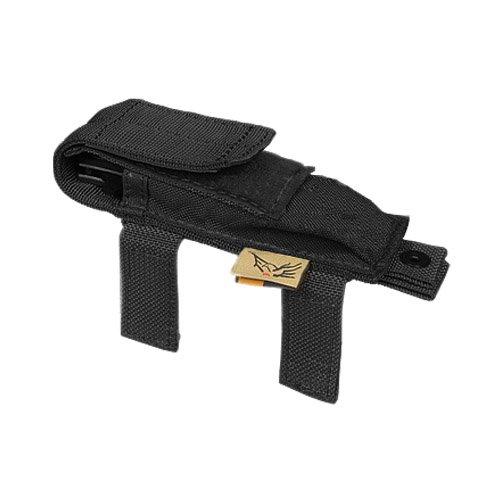 Flyye - Funda para cuchillo o navaja con cierres de velcro para airsoft (nailon), color negro