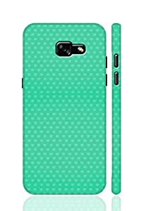 SRS Green Love Pattern 3D Back Cover for Samsung Galaxy A7 2017