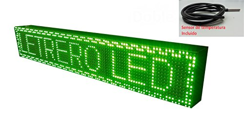 Schild LED programmierbar mit Sensor Temperatur- und Text-Uhr/Programmierbar Schild/Display programmierbar/Display/Programmierbare LED Leuchtreklame/Elektronische Uhr/Wimpelkette 96x16 - Uhr Leuchtreklame