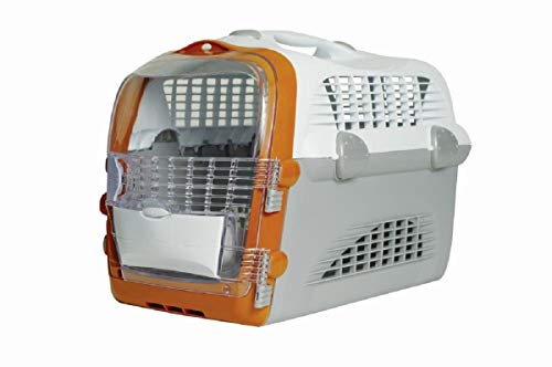 Catiti Pet Cargo Cabrio, Transportbox, weiß-grau-orange