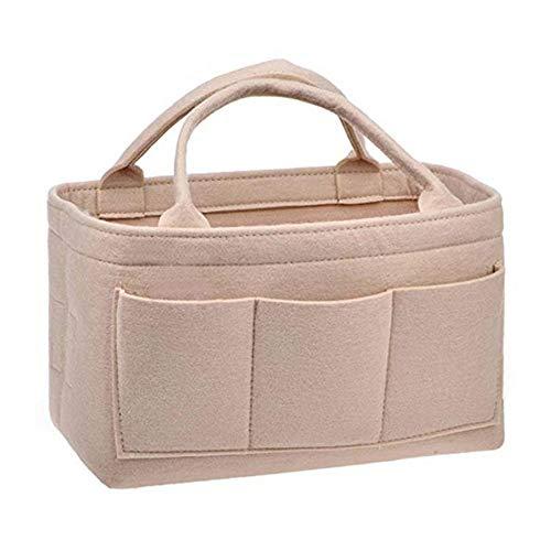 filztasche groß Shopping Bag aus Filz, große Einkaufs-Tasche mit Henkel Einkaufs-Korb vielseitige Tragetasche für Kinderzimmer ideal für Windeln -