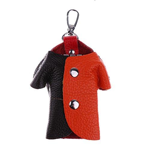 MagiDeal Multifunktionale Leder Schlüsselmäppchen Schlüsseletui Schlüssel Hülle für Herren Damen