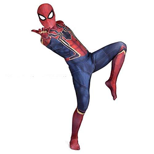 gikmhyb Erwachsene Kind Erstaunlich Spiderman Kostüm Cosplay Spiderman Zentai Anzug Overall Onesies Druck Hoodie Halloween Kostüm Film Party Superheld,180cm (Halloween Kostüme Basierend Auf Den Filmen)