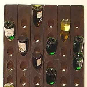 Decorative Bottle Rack SHABBY look vintage rüttelbrett Wine Rack for 20 BOTTLES