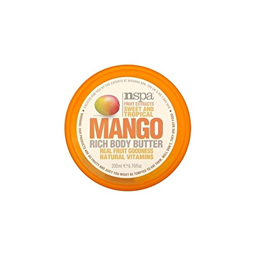 N-Spa Fruchtextrakte Sweet and Tropical Mango Rich-Body Butter (200 ml) - Packung mit 6