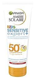 Garnier Ambre Solaire Kids Sensitive expert + Milk with SPF 50 +, sunscreen especially for children, absorbs quickly, waterproof, 50 ml