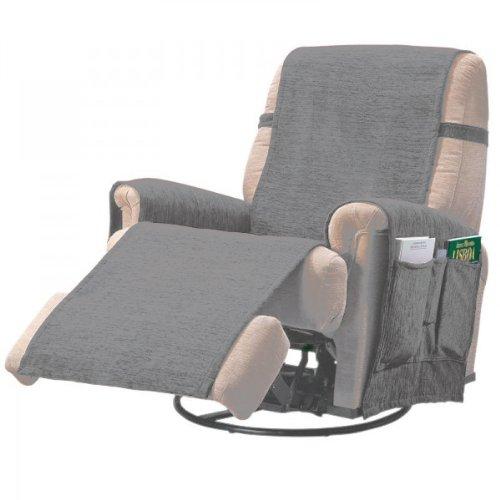 Comptoir du Linge paula1plgris - Protector para sillón, color gris