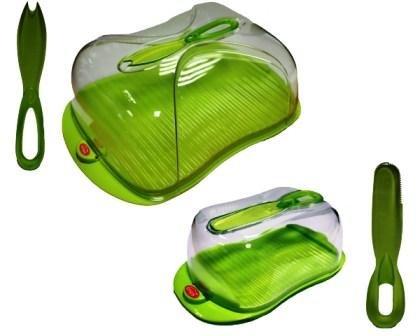 Beurrier avec boite à fromage - Coloris vert