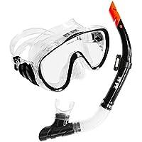 PI-PE Schnorchelset Pure - Set für Erwachsene aus Schnorchel und Taucherbrille - Antibeschlag - für Damen und Herren
