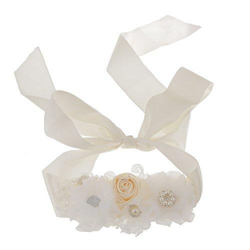 Brautkleid Kleid Gürtel Diamante Strass Perlen Blumen Schärpe Gürtel