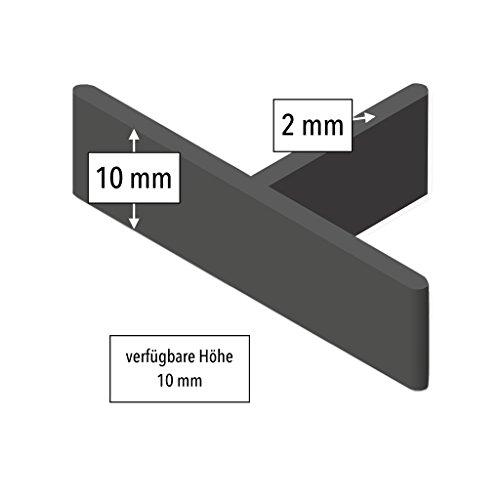 350 Stück GalaPower 2 mm Fugen-T-Stücke für Terrassenpflaster, 10 mm Bauhöhe