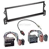 BMW Mini R50 01-06 1-DIN Autoradio Einbauset in original Plug&Play Qualität mit Antennenadapter, Radioanschlusskabel, Zubehör und Radioblende/Einbaurahmen schwarz