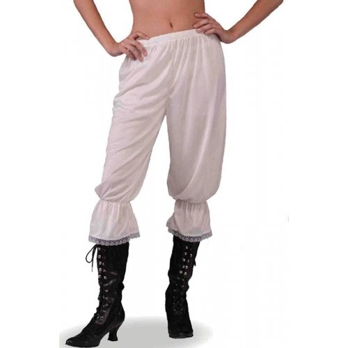 Ladies Pantaloons Victorian Bloomers Steampunk Fancy Dress - One Size