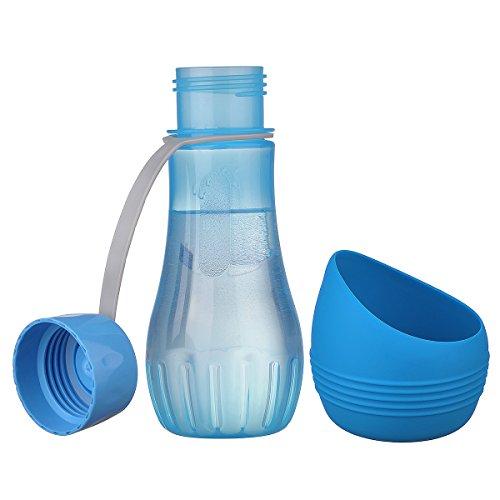 Wasserflasche mit Trinkschale, Royalcare, für Hunde, Katzen Haustiere, Trinkflasche ohne BPA, perfekt für Spaziergang, Wandern, Training, Camping