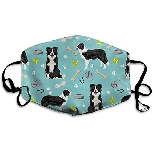 Border Collie Toys Tennisbälle Hellblau Anti Pollution,Staubschutzmaske, Komfort-Staubmaske, PM 2.5 einstellbar, für Frauen Männer -