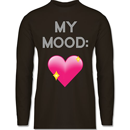 Statement Shirts - My Mood: Glitzerherz - Longsleeve / langärmeliges T-Shirt  für Herren
