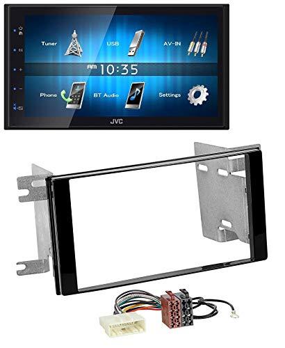 caraudio24 JVC KW-M25BT USB 2DIN Bluetooth MP3 AUX Autoradio für Subaru Impreza Forester 07-12