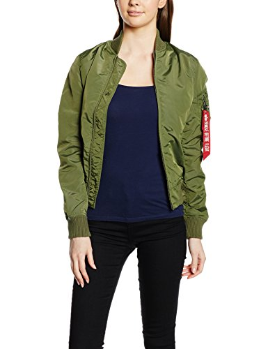 Alpha Industries Damen Bomberjacke Ma-1 TT, Grün (Sage-Green 01), X-Small