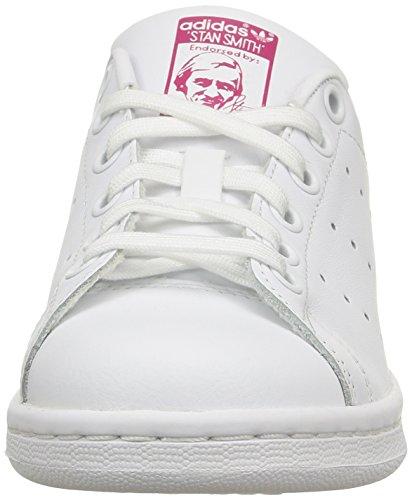 adidas Stan Smith, Sneaker Unisex – Bambini Bianco (Footwear White/footwear White/bold Pink)