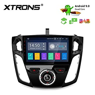 XTRONS-9-Android-Autoradio-mit-Touch-Screen-Android-90-Quad-Core-Full-RCA-Ausgang-Autostereo-untersttzt-3G-4G-Bluetooth50-2GB-RAM-16GB-ROM-DAB-OBD2-TPMS-FR-Ford-Focus-2012-2017