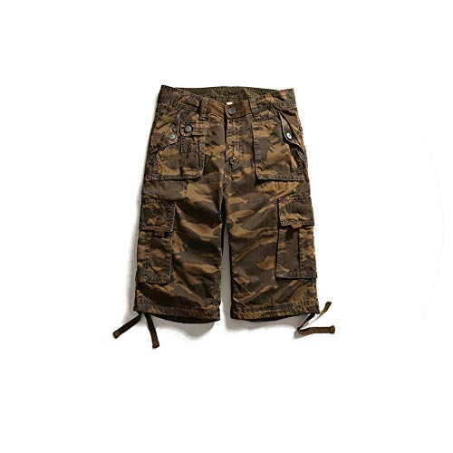 Summer Camouflage Shorts Men Casual Short Male Cotton Clothes Plus Size Military Short Trousers,Coffee Camouflage,29 - Nike-herren-pad Pocket Pant