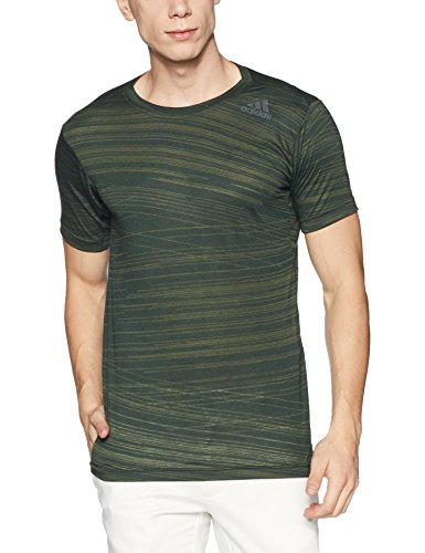 adidas Herren Freelift Aero T-Shirt, Green/Vernoc, XL (Aero Shirt)