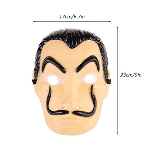 Guy Kostüm Gut Zwei - Sarplle Halloween Gesichtsmaske White Demon Clown Kostüm V Vendetta Anonymous für Erwachsene und Kinder