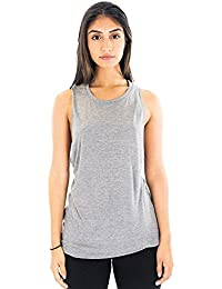Royal Apparel Women's Viscose Bamboo & Organic Cotton Muscle Top