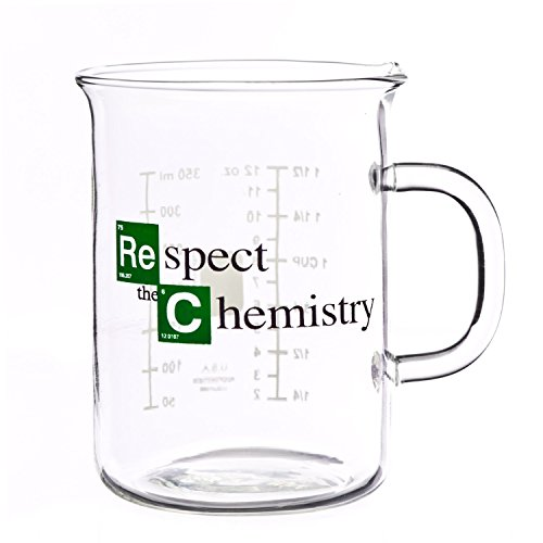 Respect the Chemistry Beaker Mug inspired by Breaking Bad (400 mL)