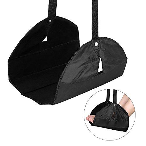 Tagvo Reise Fußstütze, einstellbare Höhe tragbare Faltbare Flugzeug Flug Carry-on Feet Hängematte für Reisen Office Home - entspannt und komfortabel - Tragbare Faltbare Hängematte