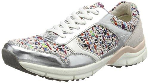 Tamaris 23611, Baskets Basses femme Multicolore - Mehrfarbig (Silver Comb 948)